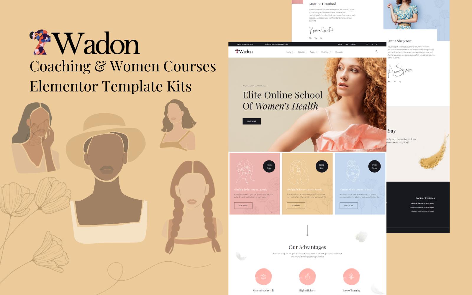Wadon – Coaching & Women Courses Elementor Template Kits